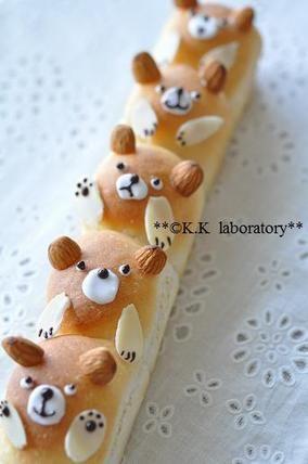 クマのちぎりパン|レシピブログ