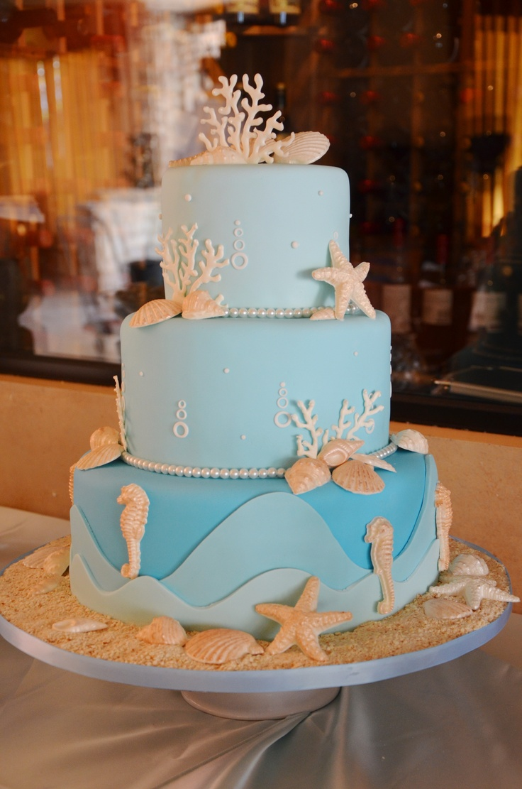 Our sisters Under The Sea Baby Shower cake, so delicious and beautiful