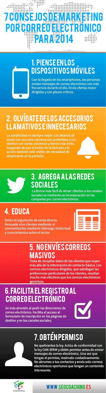 7 consejos de #emailmarketing para el 2014 #infografia #marketingonline