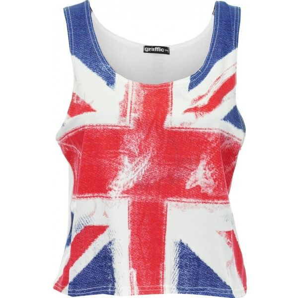 Union Jack Crop Top In the Style of Rihanna and Jessie J  ($16) ❤ liked on Polyvore