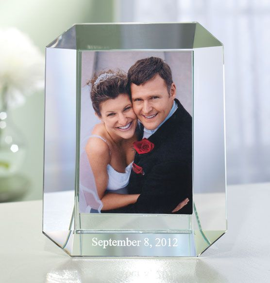 Need A Unique Wedding Or Anniversary Gift Personalized Engraved Crystal Frame From Exposures 59 95