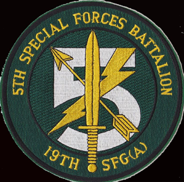 Co A and Co C, 5th Bn,19th Special Forces Group (Airborne).Pocket patch Afghanistan  Operation Enduring Freedom.2002-2003