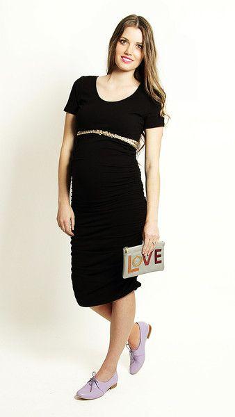 The little black maternity dress