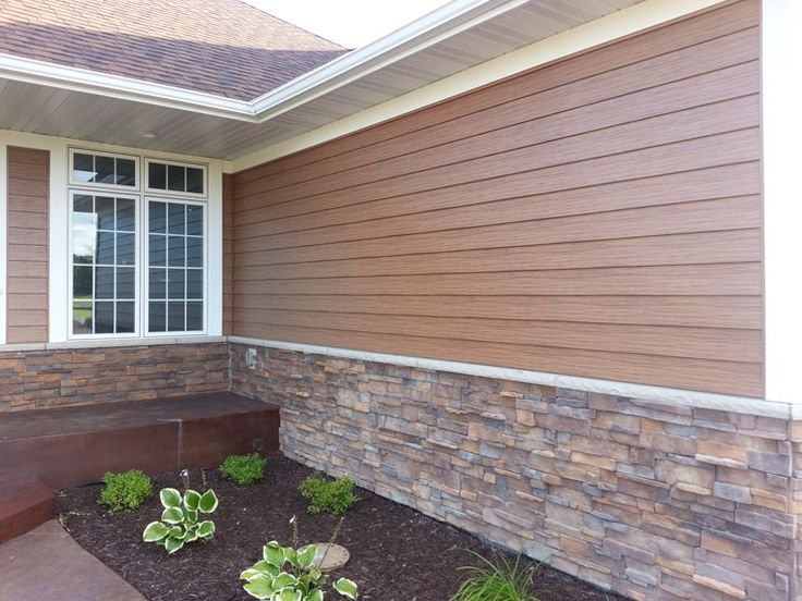 17 best images about siding on pinterest cottages brown for Ranch homes with vinyl siding