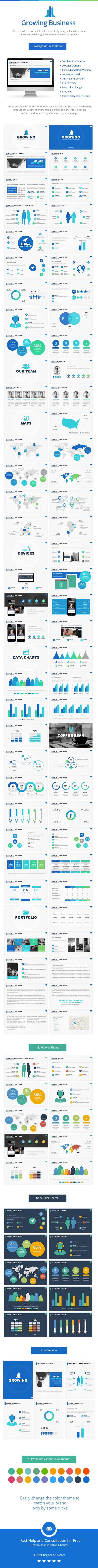 Growing Powerpoint Presentation Template