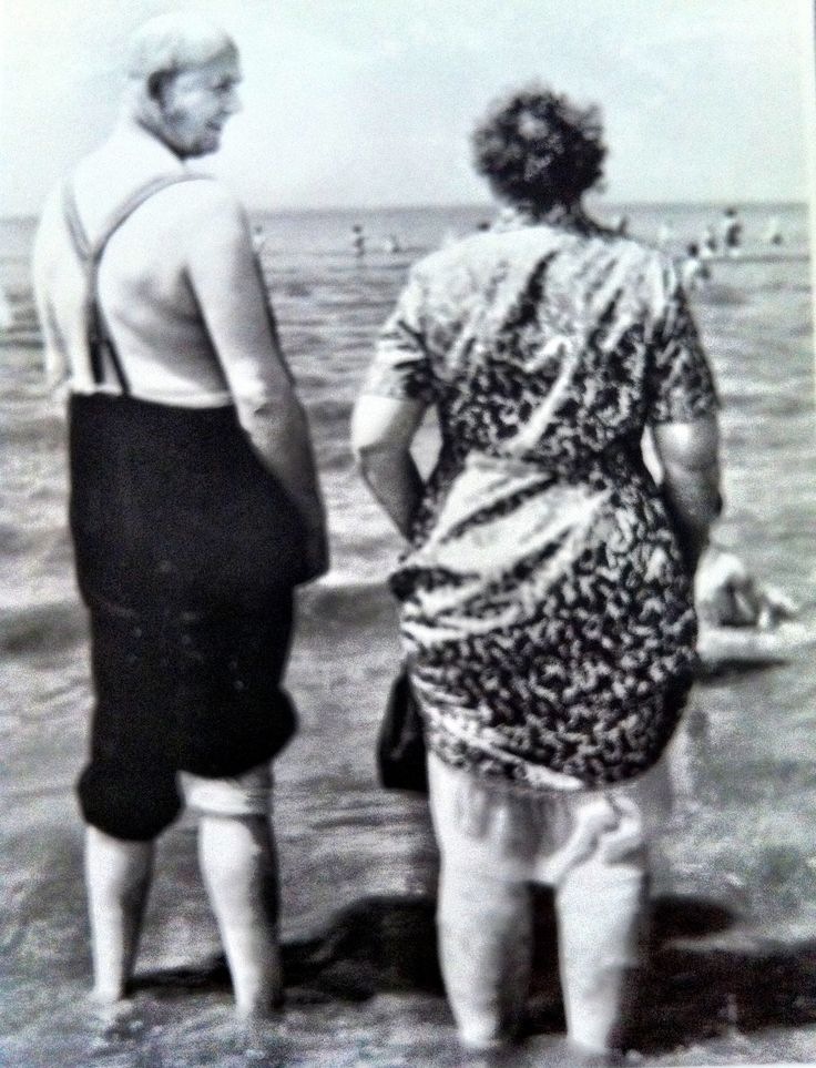 Enjoying the beach and each other.