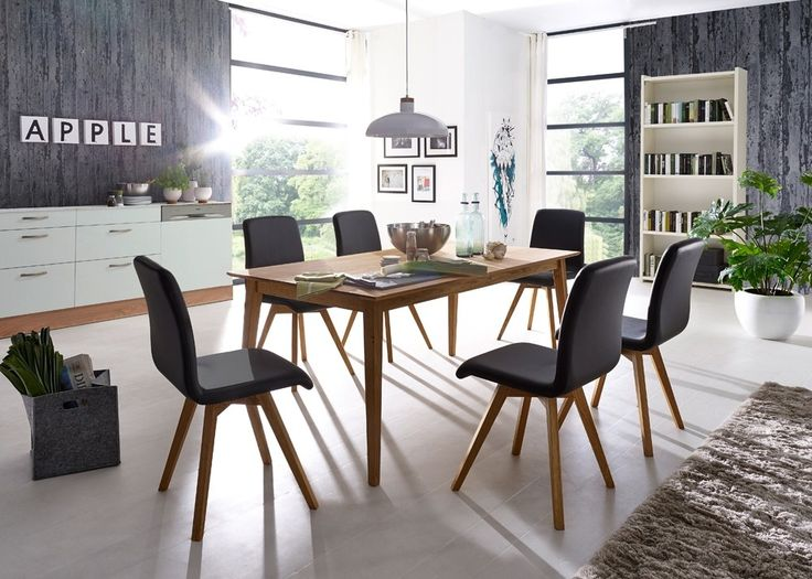 Essgruppe Filka Esstisch Mit 6 Stühlen Holz Wildeiche Massiv 20966. Buy Now  At Https: