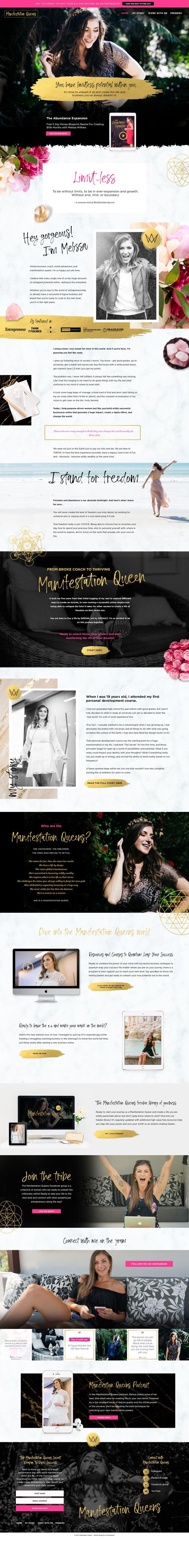 Manifestation Queens Website