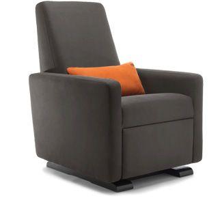 grano glider recliner - contemporary glider chair - modern nursery furniture by Monte Design 1195