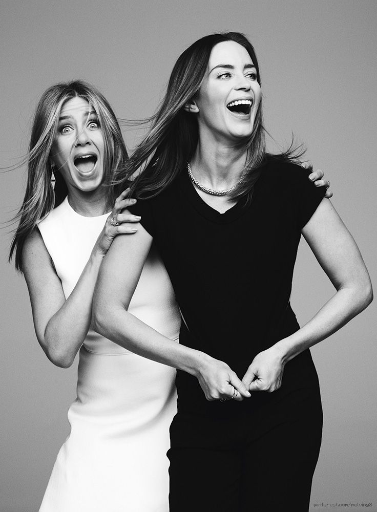 Black and White work the best /.../ Jennifer Aniston and Emily Blunt by Ben Hassett for Variety • 2014