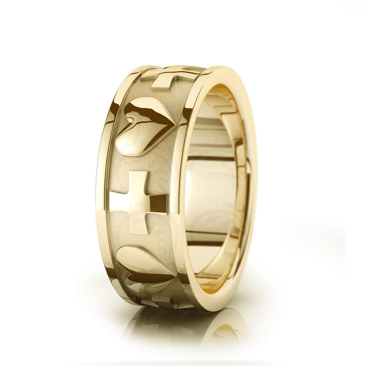 Cross U0026 Heart Christian Wedding Ring