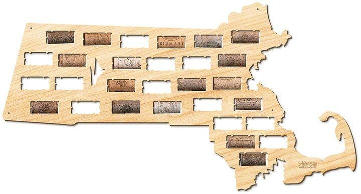 AFTER 5 Massachusetts Wine Cork Map