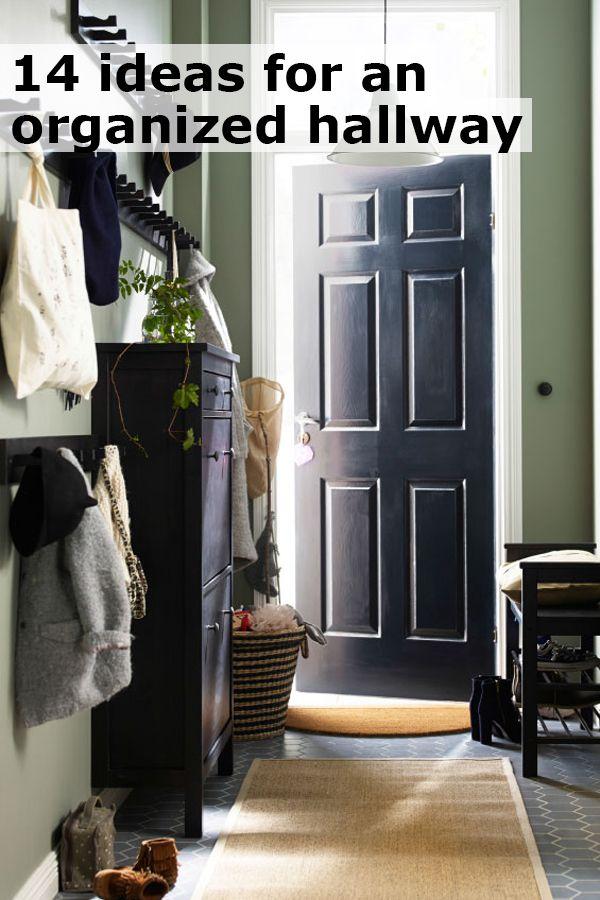 14 ideas from IKEA for an organized hallway