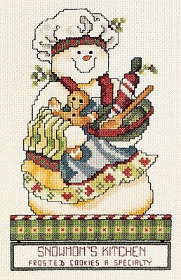 Snowmom's Kitchen - Cross Stitch Kit   I have this one in a Stoney Creek magazine.