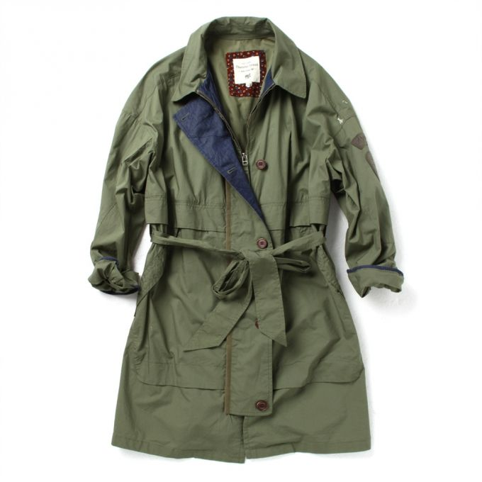 Hooded jacket Long length Trench coat style  Pintuck detailed back Waist belt (made with same fabric)  Up to 40%!! Sale now!
