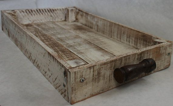 Shabby Reclaimed Wood Serving Tray by BeyondAPicketFence