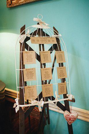 Bird Theme Wedding Ideas - Bird Cage Table Plan | www.onefabday.com