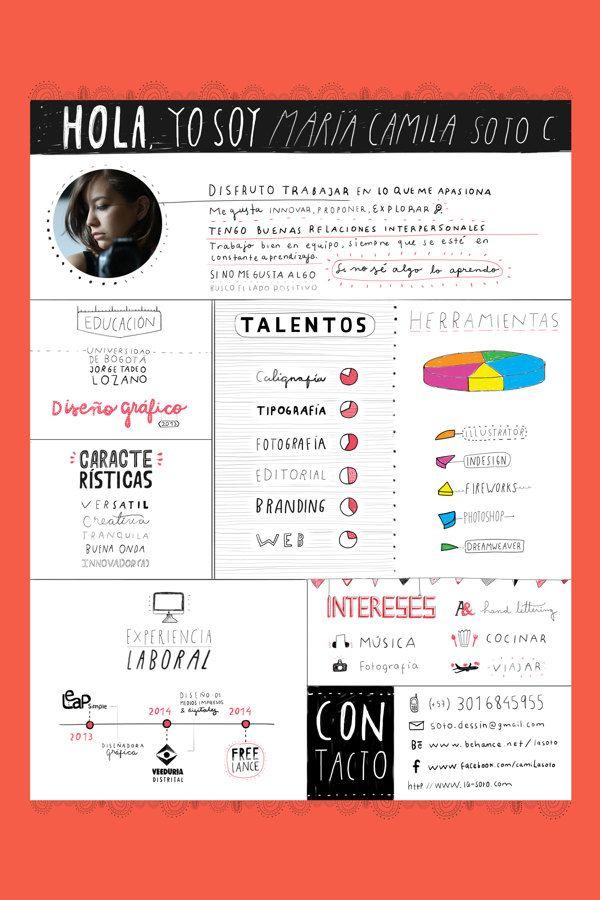 Curriculum vitae. by Camila Soto, via Behance