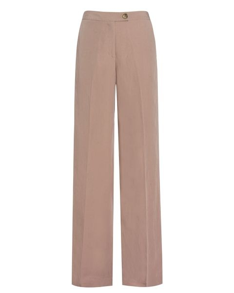 Wide-leg styles of trousers are brilliant for helping Inverted Triangles achieve fabulous body shape balance, & this beautiful linen mix pair from Jaeger are a perfect example! The wide legs help add extra volume to the lower half of the body, to balance it with the broader top half - so these are also a fabulous choice for apples, and for rectangles to add curves to their willowy hips & legs!Body Shape