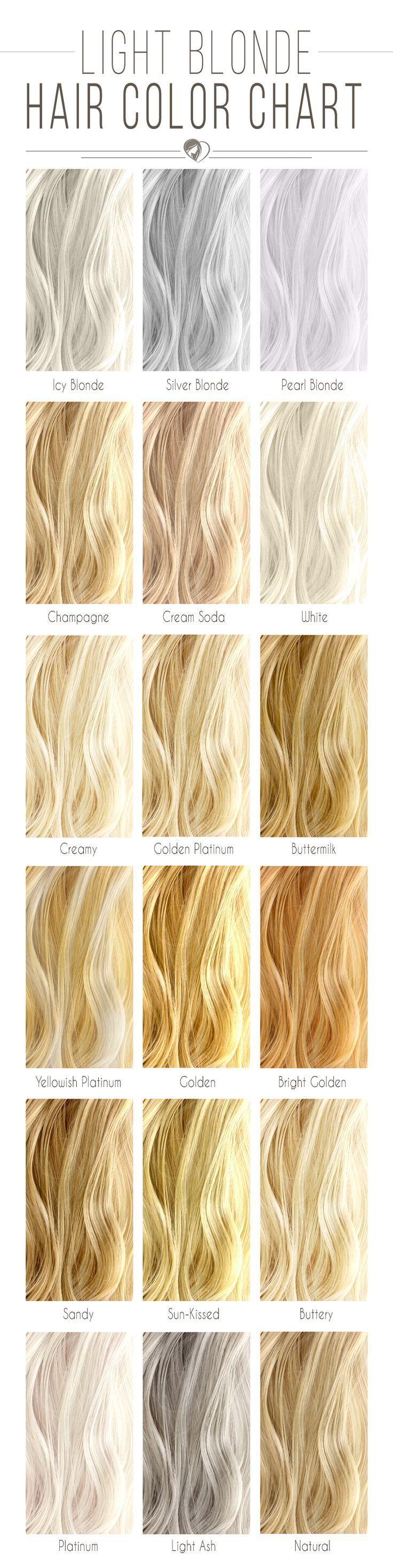 Farbtabelle von hellblondem Haar #blondhaardiagramm Farbtabelle von blondem Haar ist dein