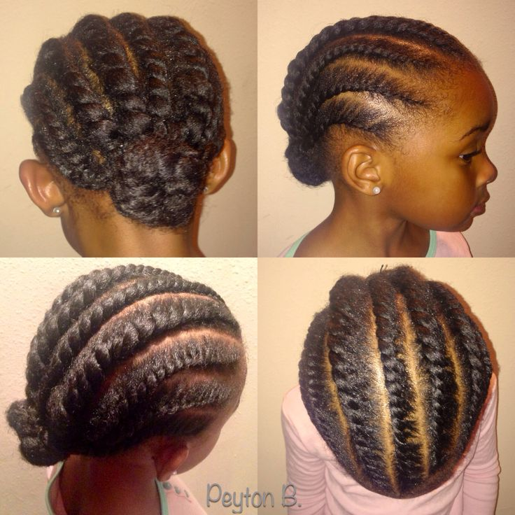 Simple Twist Styles For Natural Hair : Flat two strand twist natural hair protective style black
