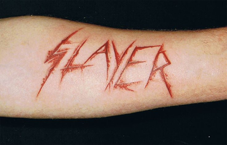 Slayer Scarification Slayer tattoo by ralf-amun