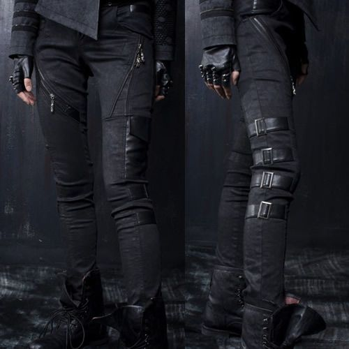 Black Alternative Punk Rock Scene Clothing Pants Leggings for Women