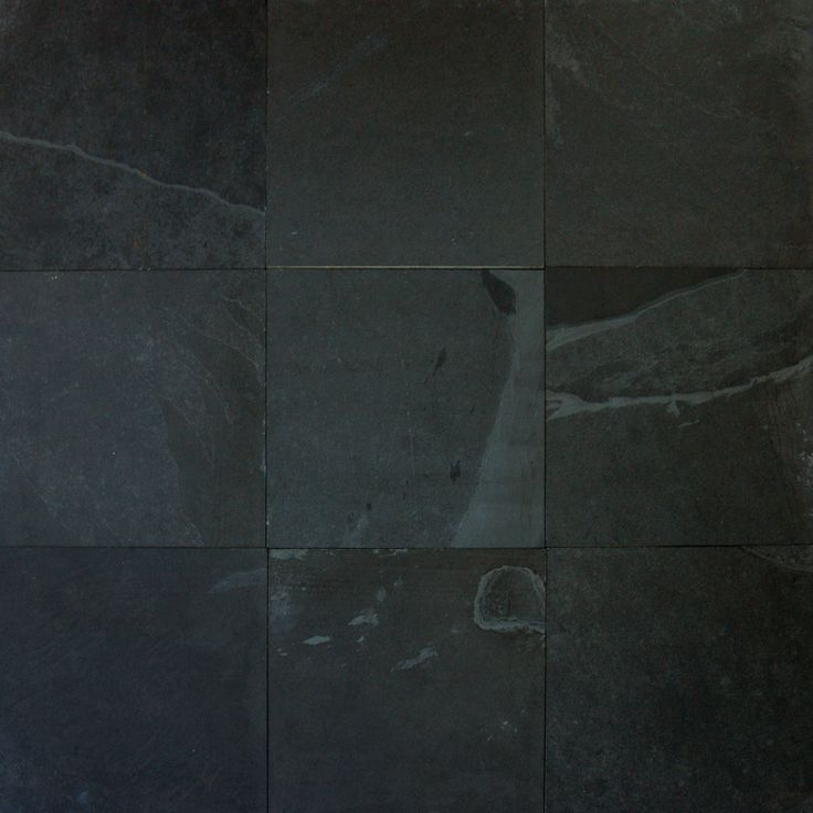 Montauk 12 Quot X 12 Quot Slate Field Tile In Black Gray Home
