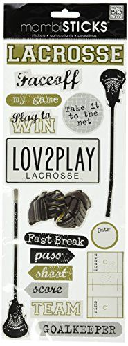 Me and My Big Ideas Self-Adhesive Designer Chipboard, Lacrosse