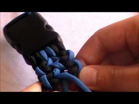 Paracord Double Wide cobra weave Dog Colar---D rind placement---**not english**
