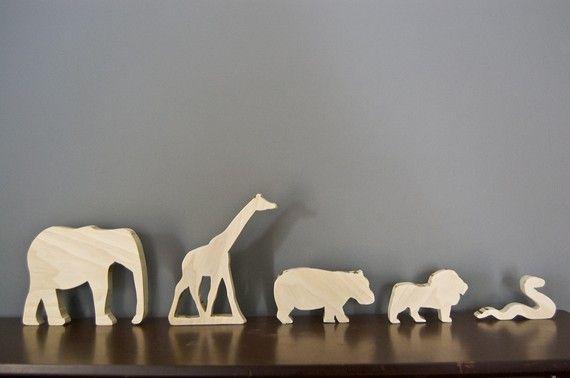 african animal wood toys #threeleavestoys
