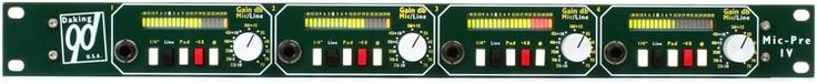 4-channel Class A Microphone Preamp with Variable Input Gain, Pad, and Phantom Power