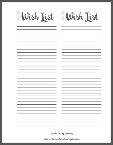 scentsy wish list template