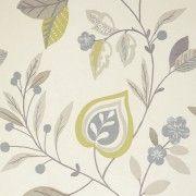 Adara Chartreuse Tropical Wallpaper - 10 Metres