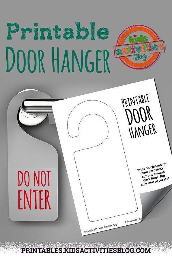 Design Your Own Door Hanger Amazing Inspiration Design