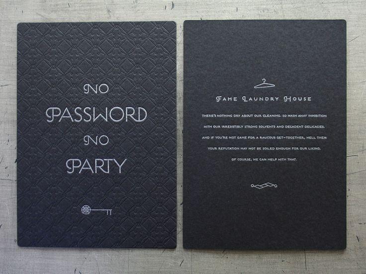 Password Prohibition party invites | auction ideas ...