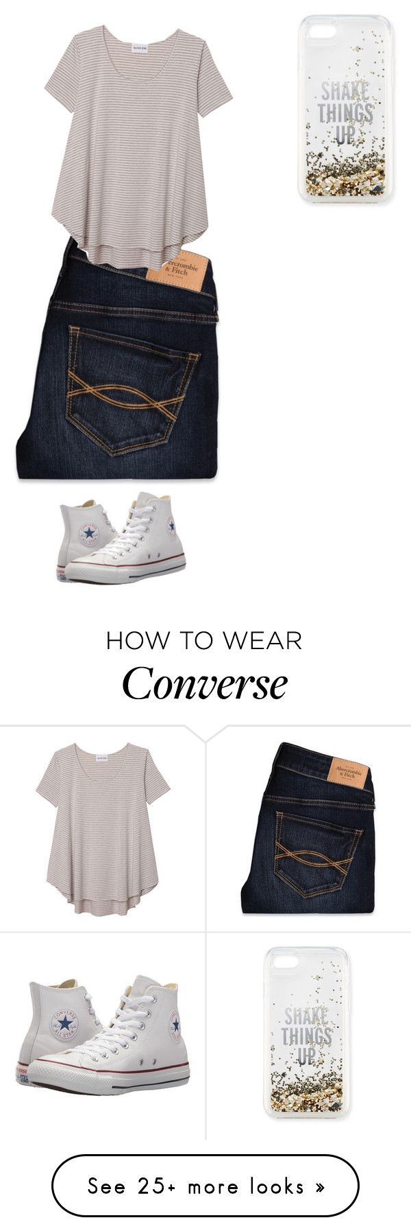 """Untitled #3474"" by pinki123456 on Polyvore featuring Kate Spade, Abercrombie & Fitch, Olive + Oak and Converse"