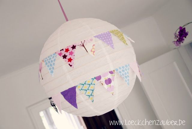Löckchenzauber: Lampenschirm kunterbunt.