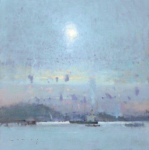 Fowey Harbour, October Sky