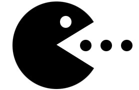 Pacman Flock Away Stencils Screen Printing