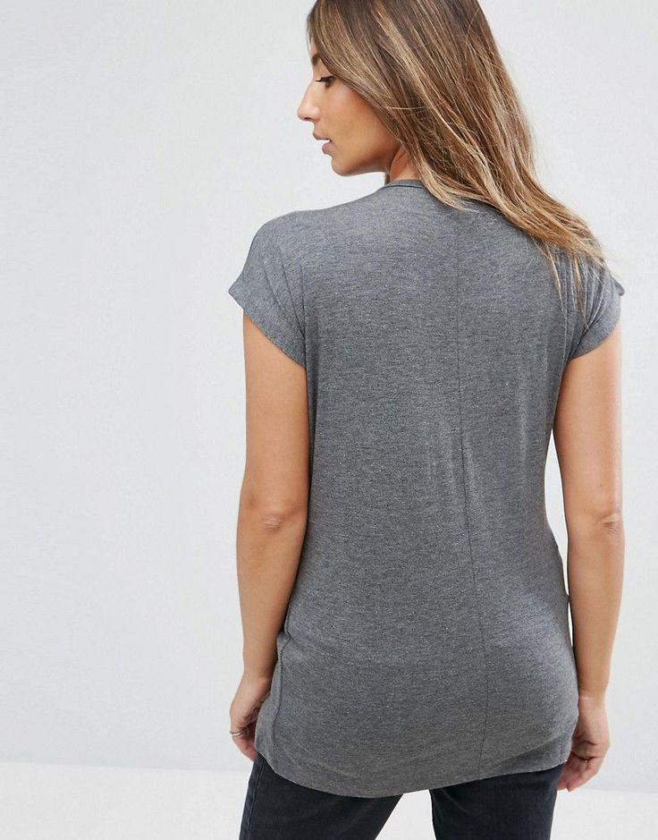 ASOS Maternity Nursing T-Shirt With Wrap Overlay - Multi