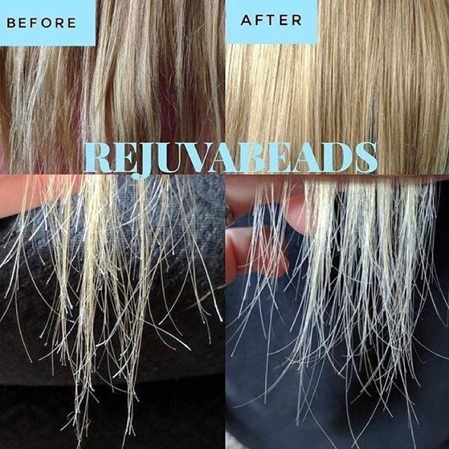 Before And After Picture Using Rejuvabeads No More Split Ends And Hair Looks Healthy Again Absolutely One Monat Hair Bleach Damaged Hair Monet Hair Products