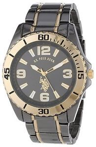 33 best images about u s polo assn watches polos u s polo assn classic men s usc80244 gunmetal and gold tone analog watch on