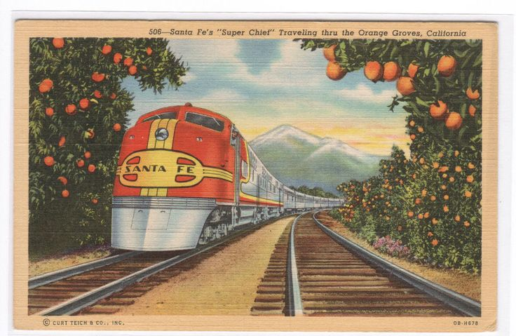 My Life In Postcards: Streamliner Trains - Part I - Santa Fe Railroad