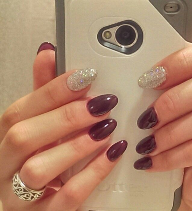 I love the gelish nails and this was my time trying the almond shape nail  :-) - Best 20+ Almond Shaped Nail Designs Ideas On Pinterest Almond