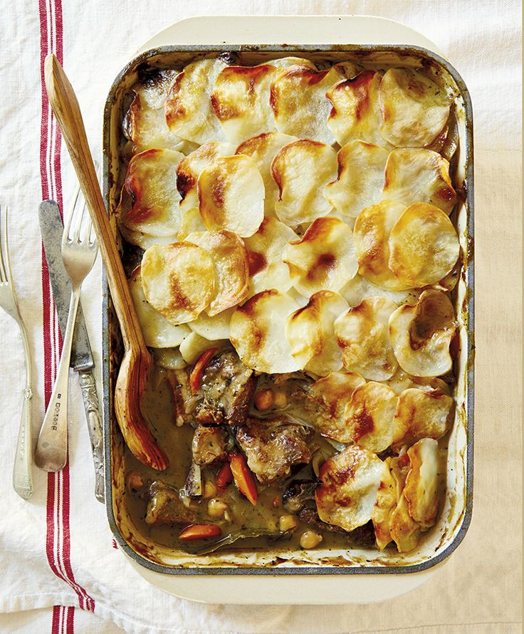 Lamb hotpot with potato topping