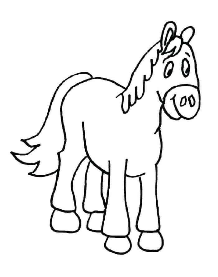 Cartoon Horse Coloring Pages Horse Coloring Pages Horse Coloring Horse Coloring Books