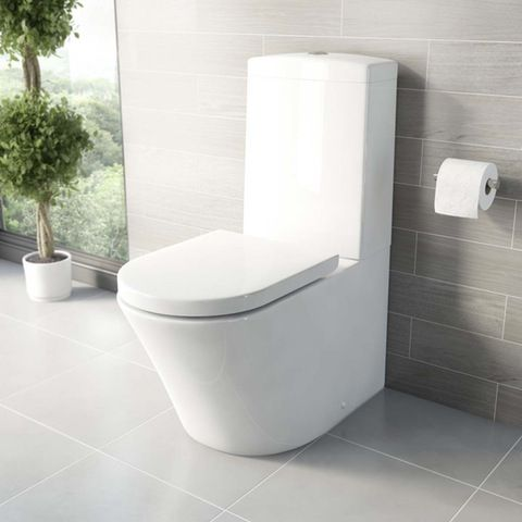 Arc Close Coupled Toilet With Luxury Soft Close Toilet Seat VictoriaPlum.com