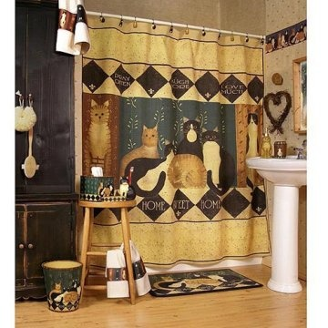 Linda Spivey Shower Curtains Country Cats By Linda