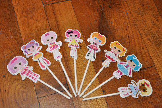 Juego de lalaloopsy Cupcake Toppers de 12